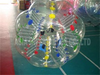 Colorful Dots Bubble Soccer Football