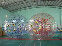 Single Color Dots Transparent Zorb Ball