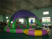 New Style Attractive Colorful Inflatable Pool with Tent for Sale