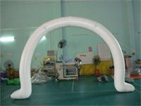 Individual Designed 0.6mm PVC Tarpaulin White Inflatable Arch