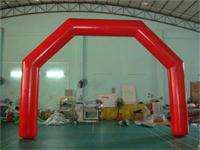 Custom 20 Foot Red Angle Inflatable Advertising Arch