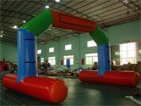 New 26 Foot Air Sealed Inflatable Stable Arch Display on Water