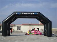 40 Foot Stable Black Inflatable Double Arches Display